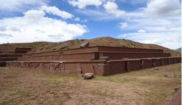 The Akapana Pyramid Mound, Tiahuanaco, Bolivia.