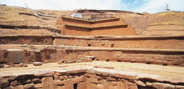 The Akapana pyramid is the largest building erected by the Tiahuanacota culture. (Boliviaesturismo)