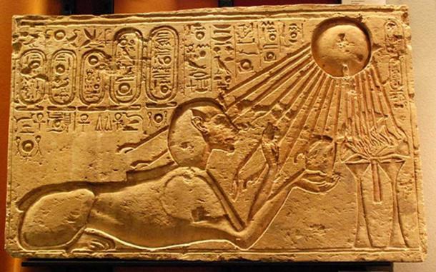 Akhenaten as a Sphinx. (CC BY 2.0)