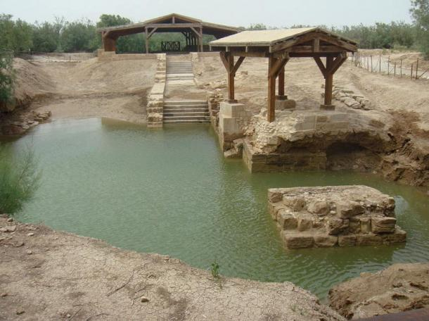 Al-Maghtas ruins on the Jordanian side of the Jordan River are the location for the Baptism of Jesus and the ministry of John the Baptist.