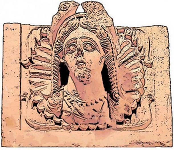 Al-Uzza, the goddess who represented the planet Venus and so corresponded to Ishtar /Ashtart /Inanna, appeared both as betyl and sculpture. Temple relief at Khirbet et-Tannur, Jordan. (CC0)