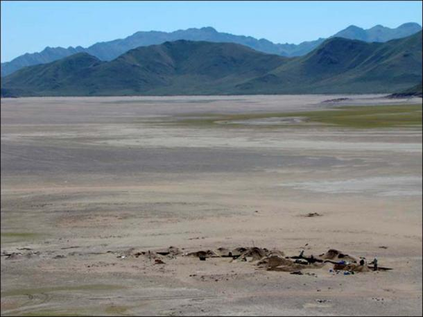 Ala-Tei burial ground located on the Yenisei River in the Republic of Tuva.