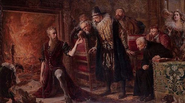 'Alchemist Sendivogius' (1566–1636) by Jan Matejko, 1867.