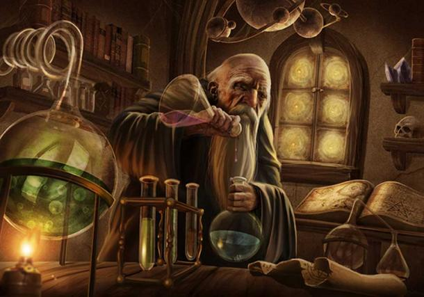 Illustration 'Alchemist.'