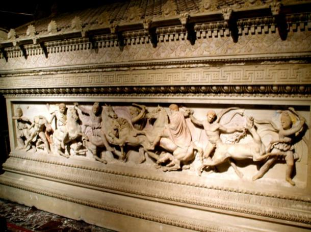 The Alexander Sarcophagus, now in the Museum of Archaeology in Istanbul