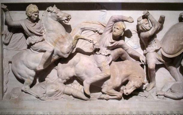 Detail from the so-called 'Alexander Sarcophagus' in the Istanbul Archaeological Museum (CC BY-SA 3.0)