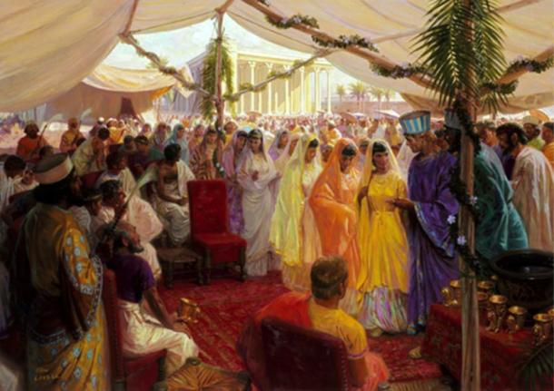 Alexander The Great Celebrates and Mass Marriage In Susa, Persia