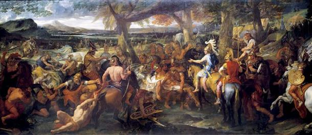Alexander and Porus by Charles Le Brun, painted 1673.