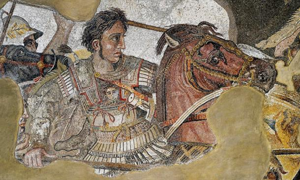 Alexander in the Alexander mosaic from the House of the Faun in Pompeii