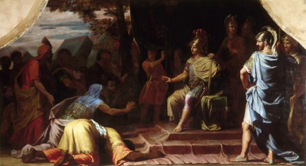 Alexander the Great Receiving News of the Death by Immolation of the Indian Gymnosophist Calanus by Jean-Baptiste de Champaigne, 1672