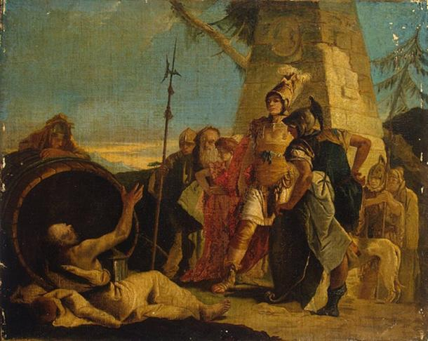 Alexander the Great and Diogenes by Giovanni Battista Tiepolo (1770s)