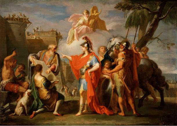 Alexander the Great founding Alexandria.