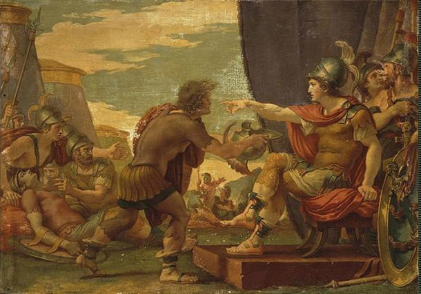 Alexander the Great refuses to take water. (Vissarion / Public Domain)
