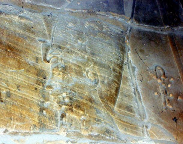 Alexander the Great is depicted as a pharaoh in a wall relief at the Luxor Temple