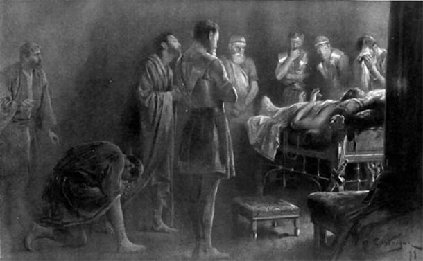 Alexander the Great on his deathbed.