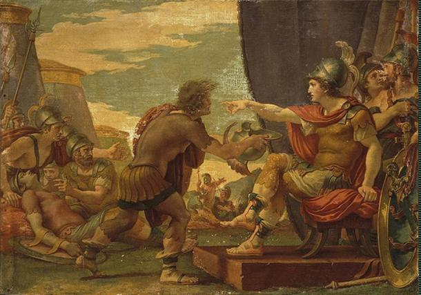 Alexander the Great refuses to take water by Guiseppe Cades, 1792