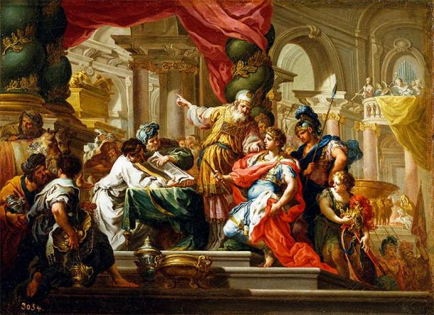 'Alexander the Great in the Temple of Jerusalem.' (Public Domain)