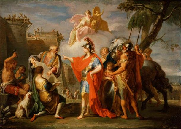 Alexander the Great Founding Alexandria. (Public Domain)