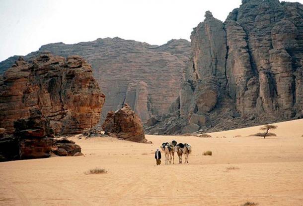Algerian desert - Tassili National Park.