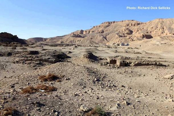 All that remains of Tutankhamun's purported mortuary temple at Medinet Habu. It is more likely that the structure was commissioned by his predecessor, King Aye, considering he was advanced in years when he assumed the throne.