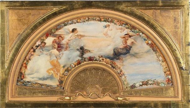 Allegory of the Wind  by Friedrich August von Kaulbach (1882) (Public Domain)