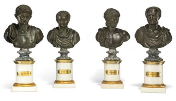 Along with the King Tut statue, Roman marble heads are being auctioned. (Christies)