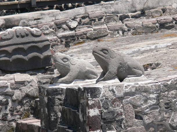 Altar of the toads as symbols of water in Aztec culture. Wikimedia