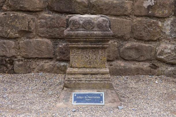 Altar to Nemesis, a roman ruin found in the amphitheater of Chester (chrisdorney/ Adobe Stock)