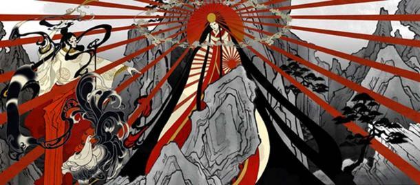Painting of Amaterasu.