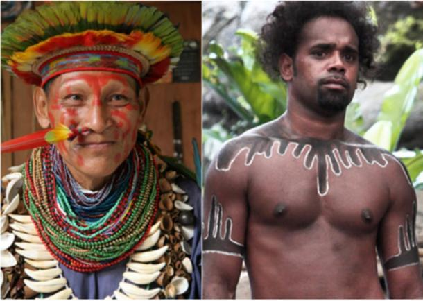 Left: Amazon shaman Right: Australian Aboriginal