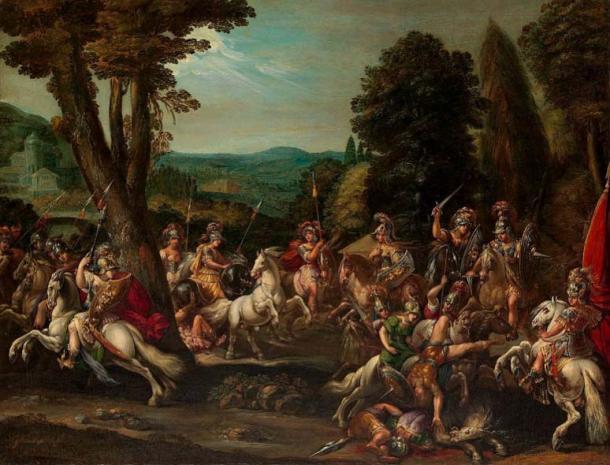 Amazon women triumph in battle. (Pharos / Public Domain)