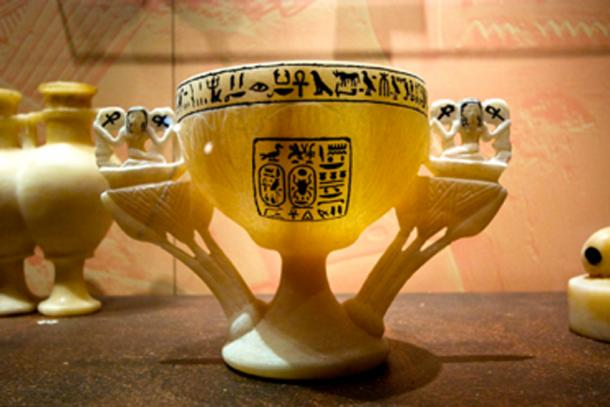 Among Tutankhamun's grave goods was an alabaster chalice known as the Wishing Cup. (Ann Wuyts / CC BY-SA 2.0)
