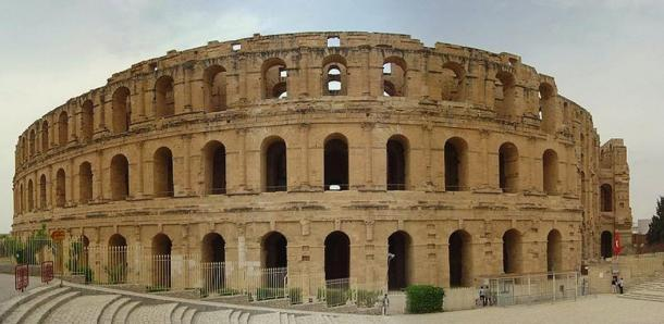 The Amphitheatre Of El Djem Gladiatorial Arena Of Tunisia Ancient