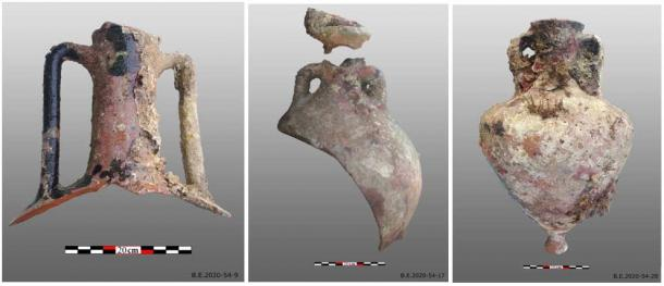 Amphorae recovered from the latest Roman shipwreck to be found.