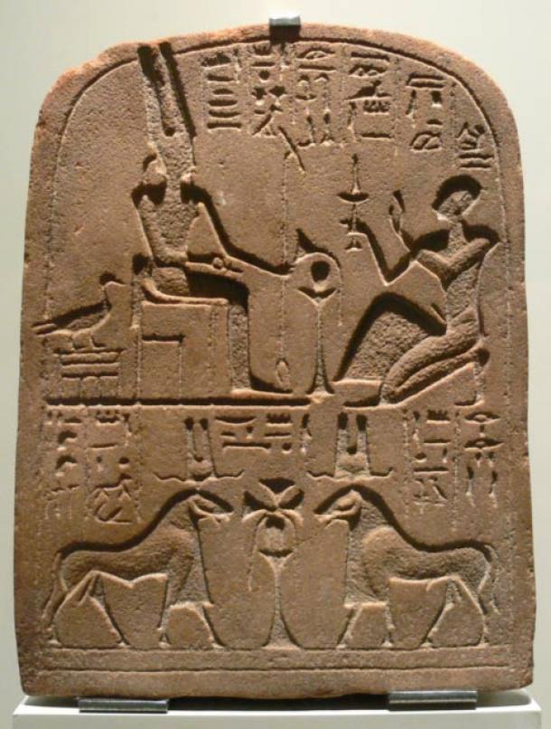 Amun in various forms: man, goose and ram