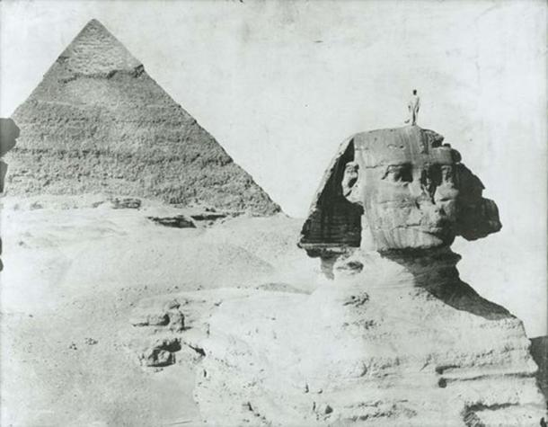 An antique photo of the Sphinx of Giza, circa 1890. (Photo Zangaki brothers/Public Domain)