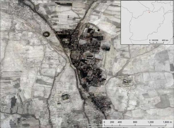 An example of three sites newly mapped by CAMEL in the Balkh region