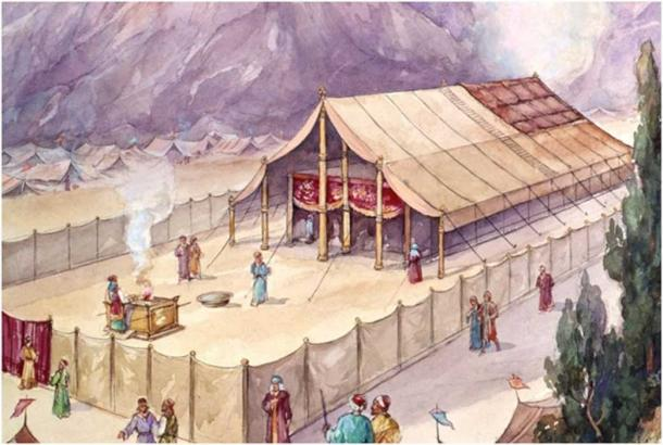 An illustration of what the tabernacle may have looked like. (unknown illustrator)