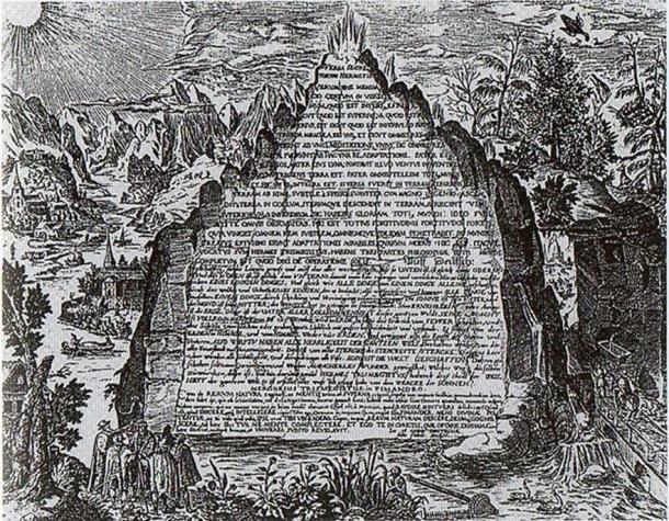 Who Really Built the Pyramids of Giza? Thoth's Enigmatic Emerald Tablets May Provide the Answer An-imaginative-17th-century-depiction