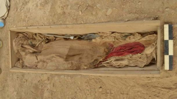 An opium pipe was included in the burial of one of the 19th century Chinese laborers discovered at Huaca Bellavista in Lima, Peru.