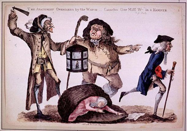 The Anatomist Overtaken by the Watch by William Austin, 1773.