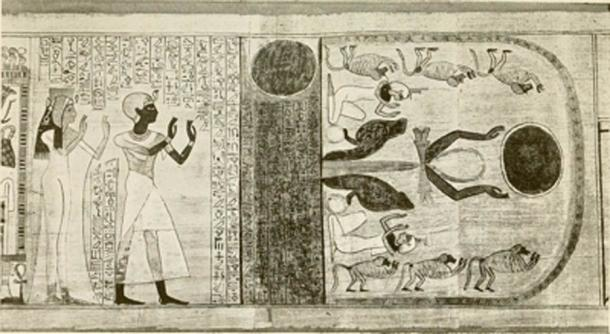 Ancient Egypt literature included hauntings by the Sahu, the 'ghost' part of the human soul. (SteinsplitterBot / Public Domain)