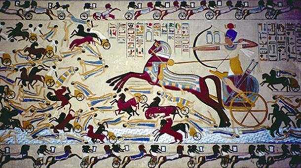 Ancient Egyptian chariots. (Public Domain)