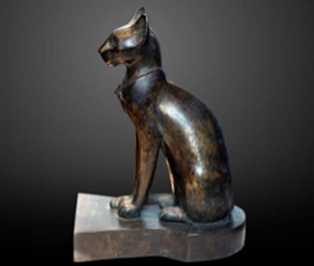Ancient Egyptian statue of Bastet after becoming represented as a domestic cat, between 664 and 610 BC. (Rama / CC BY-SA 3.0)
