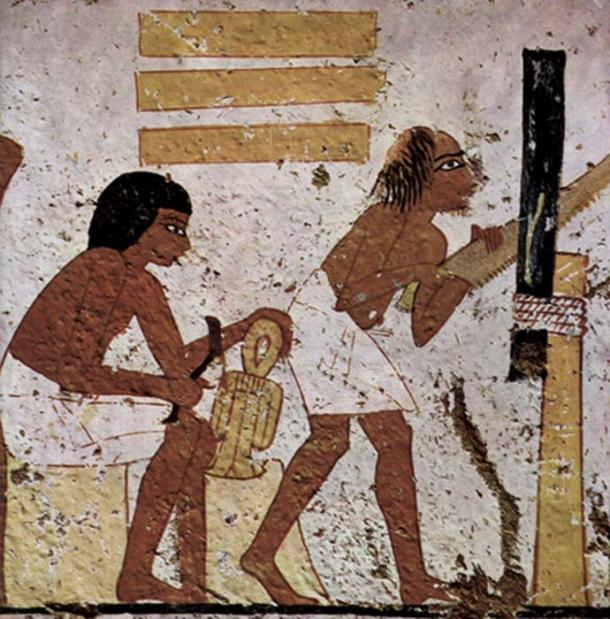 Ancient Egyptian woodworking. (Eloquence / Public Domain)