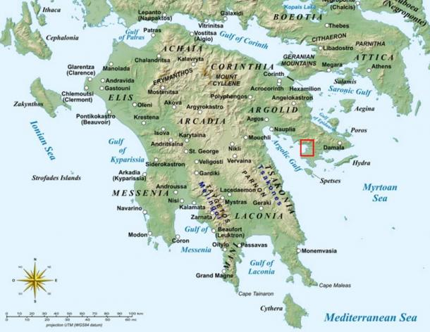 The Ancient Greek City was found at Kiladha Bay on the Peloponnese Peninsula south of Athens.