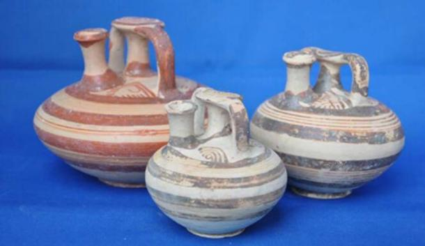 Ancient Greek clay pots. Source: Ephorate of Antiquities of Corinth