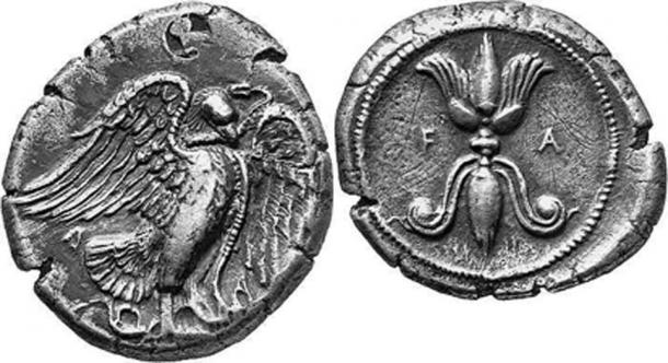 Ancient Greek coin with eagle standing right, a favorable omen. (Flickr upload bot / CC BY-SA 2.0)