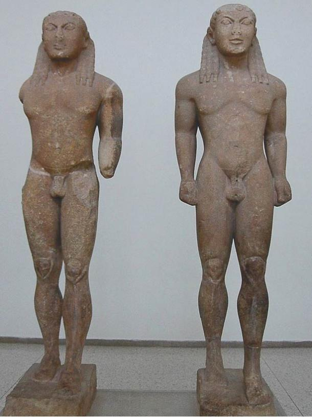 Ancient Greek kouros sculptures (from c. 615 – 485 BC) are found wearing dreadlocks – rolled or braided hair.