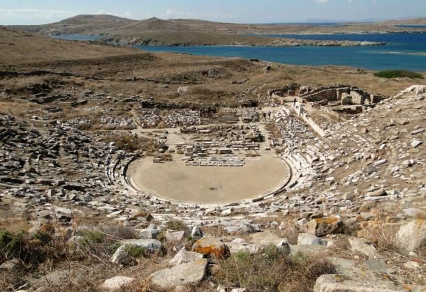 Ancient Greek theater in Delos